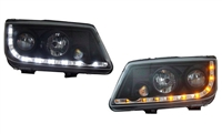 VWJ4HL-S5B - Helix Mk4 Jetta Headlights with S5 Style LED