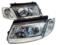HVWP50HL-PC Helix Chrome E-Code Headlights, B5 Passat