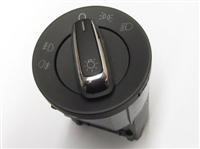 European Headlight Switch w/Chrome, Mk6 Jetta 2.5L/TDi/8v