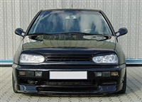 GR-VWG3-B2 Mk3 Golf Badgeless Grill (2-Bar), Black Finish