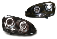 DEPO Mk5 Smoked Angel Eye Projector Headlights