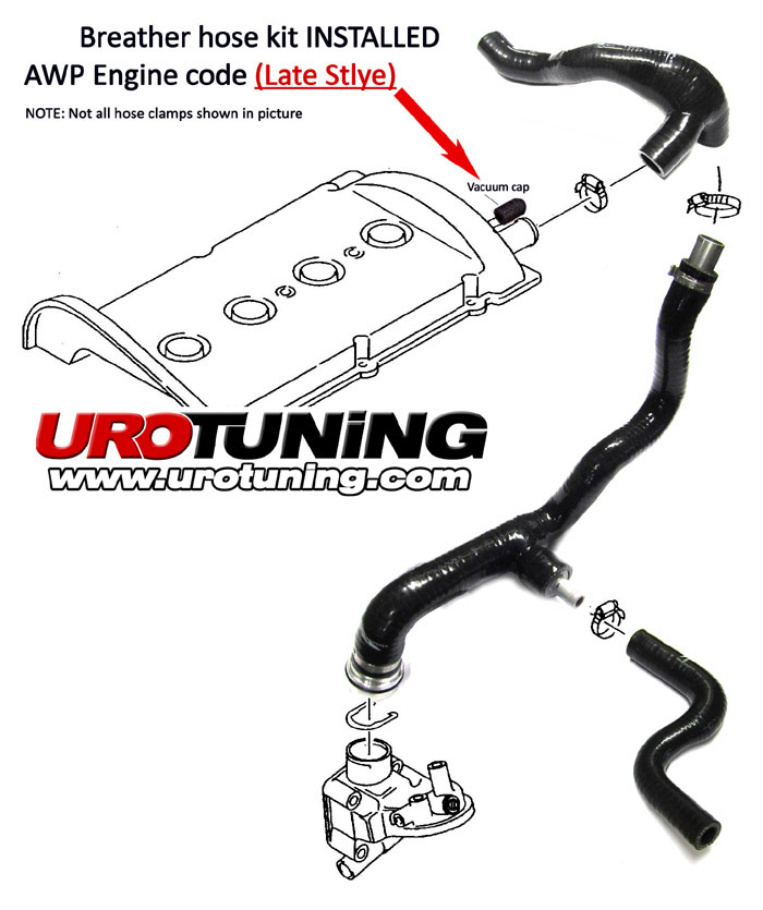 Vw Mk4 Golf Jetta 1 8t Reinforced Silicone Breather Hose Kit