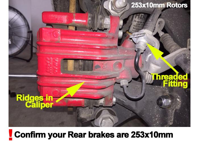 2011 VW Jetta w//272mm Rear Rotor Dia OE Replacement Rotors w//Ceramic Pads R